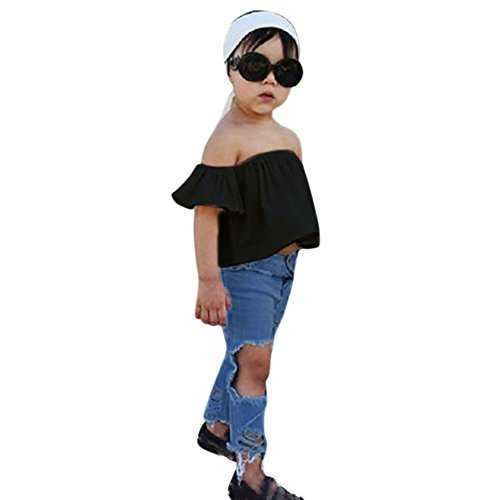 Littleice-Toddler-Kids-Baby-Girls-Off-Shoulder-Crop-Tops-Hole-Denim-Pant-Jean-Headband-Outfits-Clothes-Set