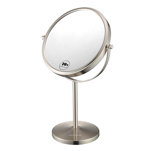 Magnifying Makeup Mirror, 8-Inch Double Sided Vanity Tabletop Mirror with 10X Magnification, -