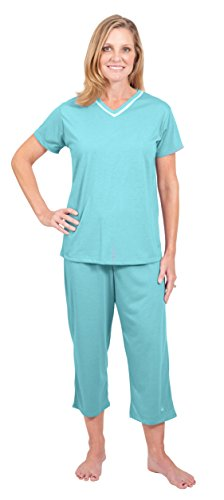 Moisture Wicking Kristi Capri Pajama Set Night Sweats