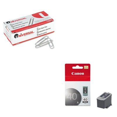 KITCNMPG40UNV72220 - Value Kit - Canon PG40 PG-40 Ink Tank (CNMPG40) and Universal Smooth Paper Clips ()