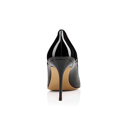 Zapatos Puntiagudo Sexy Tacón 1807 Alta Tacón TLJ Mejorar Sandalias Baile De KJJDE Mujer 42 Dedo Fiesta De Black Alto v8pxOqwaw