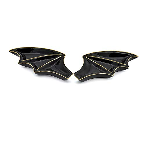 Exembe Halloween Bat Wings Jewelry Decorative Trinket Tray Ring Holder Set 2 Dish Trinket Dish Pack Gift]()