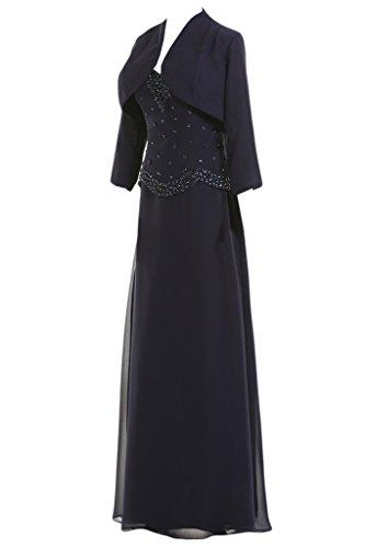 Toscana sposa donna Elegant a forma di cuore con Bolero stanotte Chiffon sposa madre festa vestimento lunga un'ampia ball vestimento