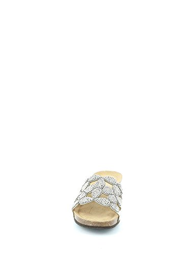 Ecopelle CB1601 GRUNLAND Sandalo ANIN Ciabatta Argento wRxxaq