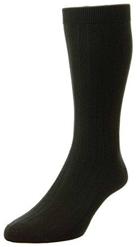 Pantherella Sea Island Cotton - Black Pembrey Sea Island Cotton Socks by Pantherella - Medium