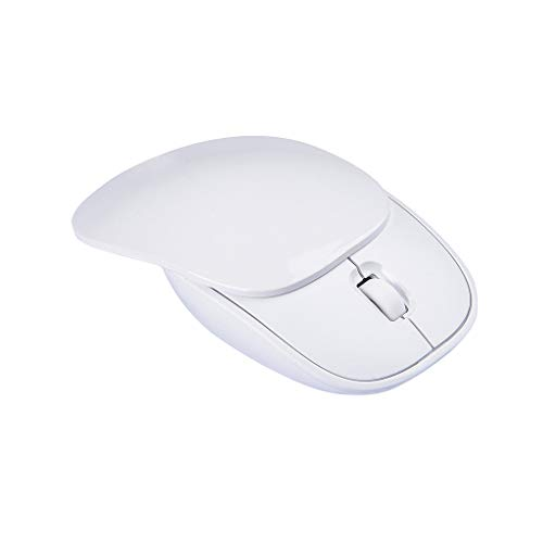 JinJin Mouse White Slice Cute Animal Wireless Mouse, Mini USB 2.4G Rechargeable Optical Mice Cartoon Computer Mouse for Kids 3 Buttons (white)
