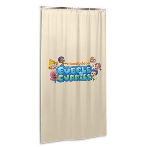 VIMMUCIR Bubble Guppies Logo Shower Curtain Waterproof Bath Curtain for Bathroom 36 X 72 in