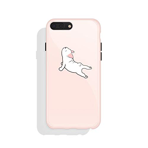 iPhone 8 Plus / 7 Plus case for Girls, Akna Get-It-Now Collection Flexible Silicon Case for Both iPhone 8 Plus & 7 Plus [Lazy Dog](579-U.S)