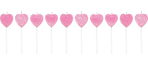 Creative Converting 101040 Pick Sets with Glitter Cake Candle, 3