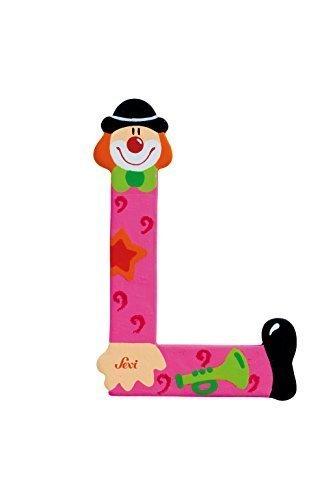 Sevi 1831 wooden toy - Graffiti - Letter O Clown (81751) by Sevi (Wooden Letters Sevi)