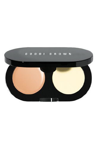 (Bobbi Brown New Creamy Concealer Kit - Natural Creamy Concealer + Pale Yellow Sheer Finish Pressed Powder -)