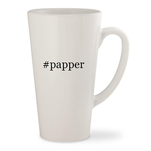 #papper - White Hashtag 17oz Ceramic Latte Mug Cup