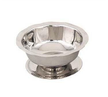 Sherbert/Sundae Dish, 3-1/2 oz, Stainless Steel, Gadroon Base
