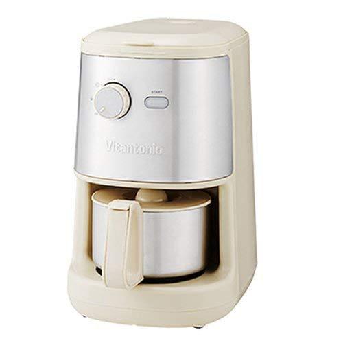 全自動コーヒーメーカー アイボリー Vitantonio ビタントニオ 200 ミル付き コンパクト 簡単 コーヒーマシーン   B07P9FGS3D