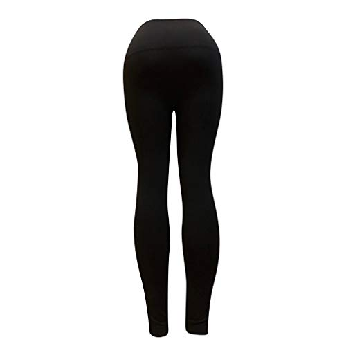 Pervobs Women Casual Comfy Stretchy High Waist Pants Solid Skinny Sports Yoga Leggings Pants Trouser(M, Black) by Pervobs Women Pants (Image #4)
