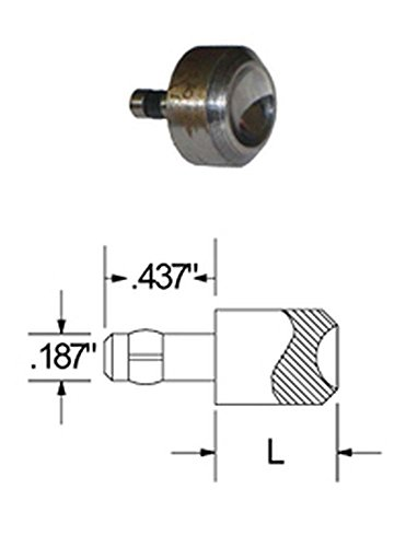SQUEEZER DIE FOR ROUND HEAD RIVETS WITH A .187 HEAD DIAMETER, 1/2'' HEIGHT, .187 SHANK DIAMETER, .437 SHANK LENGTH by Hanson Rivet (Image #1)