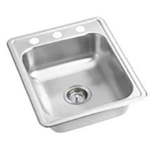 (PROFLO Bealeton Drop In Stainless Steel Kitchen Sink PFSR172273A Stainless)