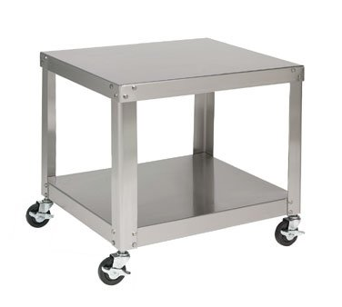 Univex S-1A S/S Equipment Stand w/ Undershelf & Locking Casters