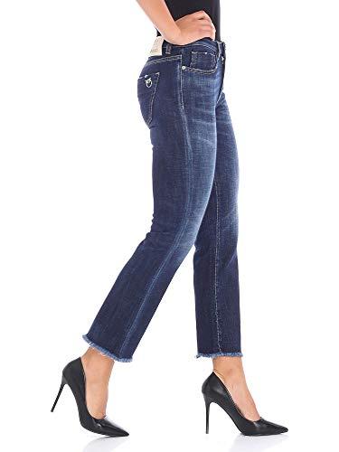 1G13NQY4QMG08 Bleu Jeans Coton Pinko Femme 4w1HXX