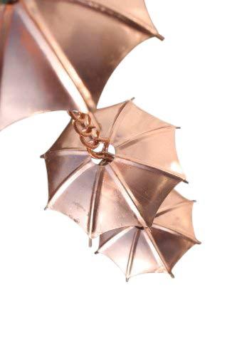 Olive Grove Rain Chains - Umbrella Rain Chain - Copper Plated-1.8M Long