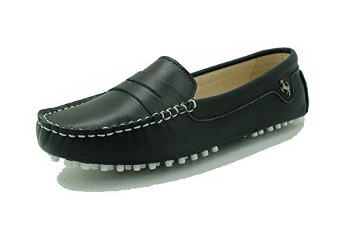 Minitoo - Mocasines de Piel para mujer Leather-Black