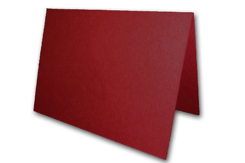 Blank Dark Red Place Cards Tent Cards - 50 Pack | Size 3.5
