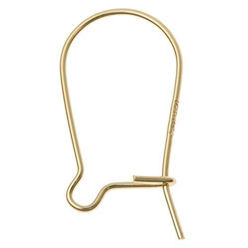 RJ Findings-10 pieces 14K Gold Filled Kidney Earwire Ear Wire Earring (Making Wire Earrings)
