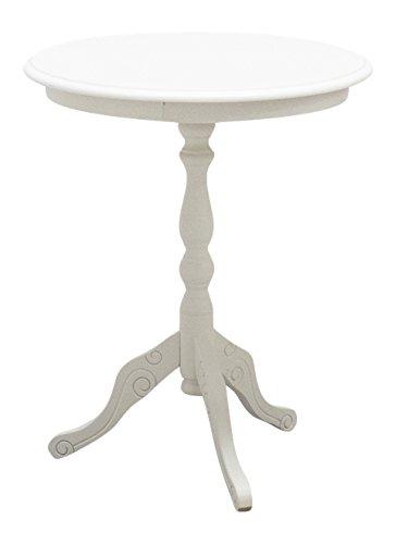 pieffe Furniture 190014Table Round, Wood, white, 50x 50x 60cm Pieffe Mobili