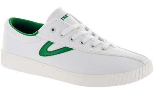Tretorn Women's Nylite Sneakers, Vintage White/Green, 10 B(M) US (Shoes Sneakers Vintage)