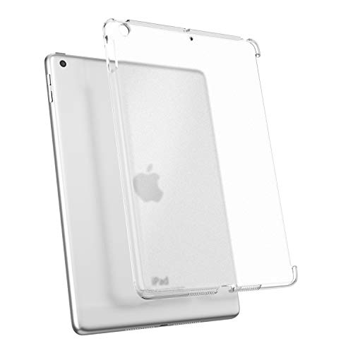 TiMOVO Cover Compatible for iPad 9.7 2018/2017 Case (Compatible with Official Smart Cover) - Slim Fit Back Shell Hard Clear Case Cover Fit iPad 9.7 Inch iPad 5th/6th - Clean Clear