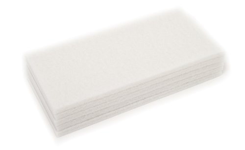 Clarke 997002 Commercial 14 Inch X 28 Inch White Pad (Gentle Scrub), Case of 5