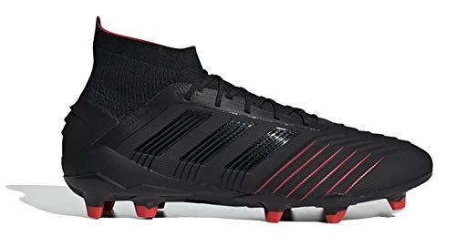 adidas Predator 19.1 FG Football Boots - Adult - Black/Black/Red - UK 8