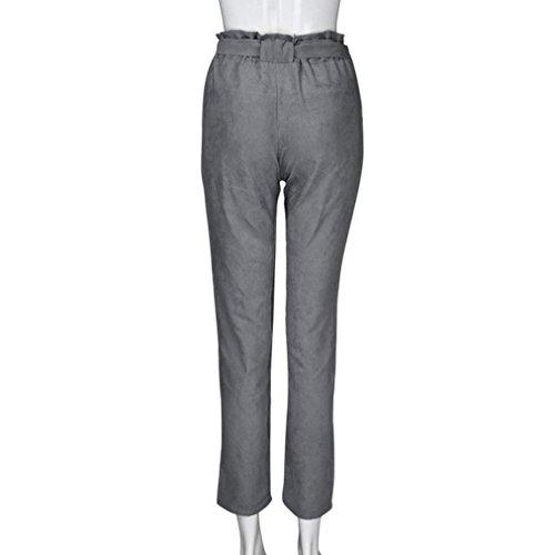 Donna SANFASHION Pantaloni Casual Hosen Grau3 Damen wOOqz60R