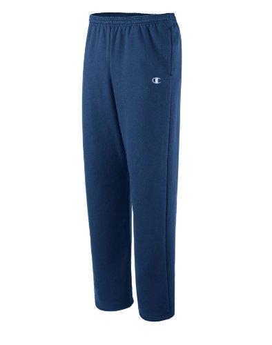 Champion Men's Open Bottom Eco Fleece Sweatpant, Navy, Medium