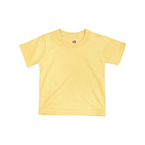 Hanes ComfortSoft Crewneck Toddler T-Shirt T120, 2T, Daffodil (Baby Daffodil)