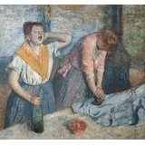 [Oil Painting 'Edgar Degas-Women Ironing,1884' Printing On Perfect Effect Canvas , 8x9 Inch / 20x22 Cm ,the Best Wall Art Gallery Art And Home Decor And Gifts Is This Best Price Art Decorative Prints On] (Community Costumes Dance Type)