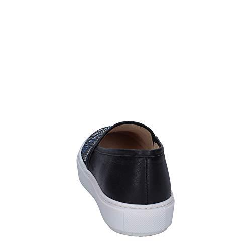 Slip Sport Pelle Janet On Donna Nero 45TTxwn