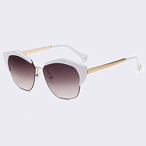 C05 Gato espejo marco UV400 de TIANLIANG04 clásicas gafas de sol Ojo con tonos Gafas de mujer metal de C03 lentes de SqSw8H