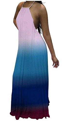 Length Coolred Big Halter Dresses Sexy Loose Hollowed Swing Back Ombre Women As3 Floor 4qgrY4c