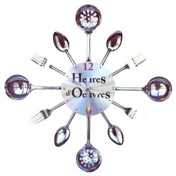 Pendule originale design best attractive horloge murale originale design pendule murale for Horloge inox cuisine