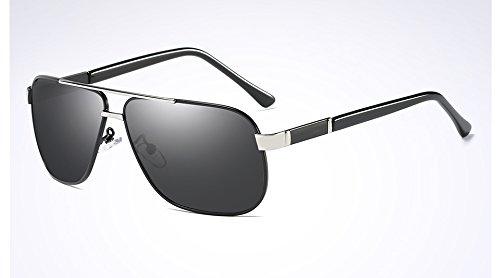 Gafas silver brown de polarizadas de Gafas TL conducción gafas Moda hombres Hombre Sunglasses black gray sol qgPB6w