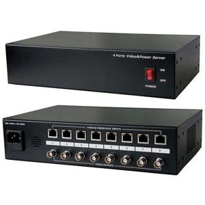 8CH Passive Video Balun with Power Server