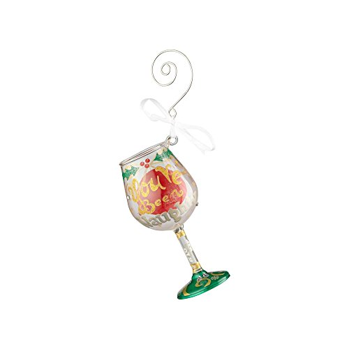 Lolita Mini Wine Glass Ornament with Hanging Hook and Gift Box (Naughty X-Mas) (Wine Lolita Ornament Glass)