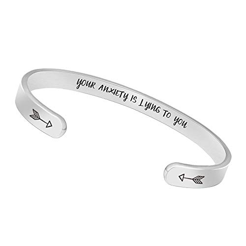 (Inspirational Bracelets for Women Men Cuff Bangle Friendship Mantra Jewelry Come Gift Box)