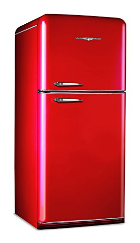 Elmira Stove - Northstar 1952CR Candy Red 18.2 cu. ft. Refrigerator by Elmira Stove Works