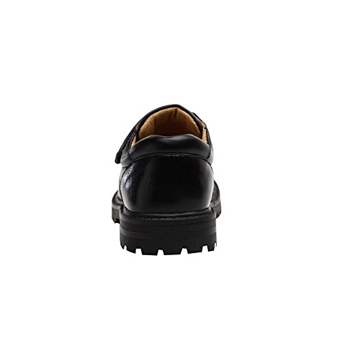 Bomkin Chaussure en cuir pour enfants et garçons en noir