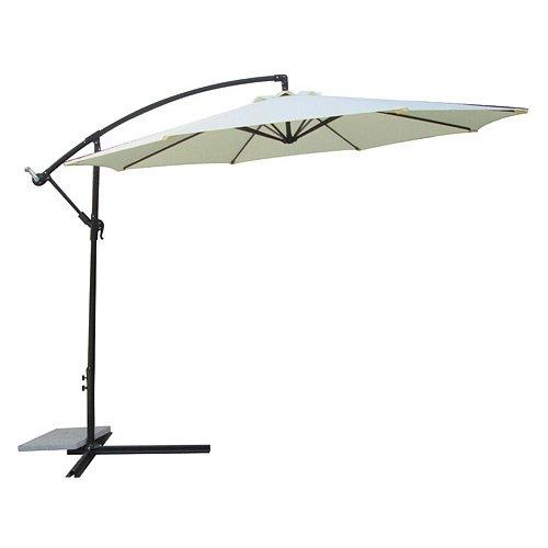 Jet-Line Ombrellone parasole Pamplona colore beige, con manovella, da giardino