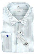 Geoffrey Beene Wrinkle Free Regular Fit Dress Shirt, Blue Jay FR Cuff 17 32/33