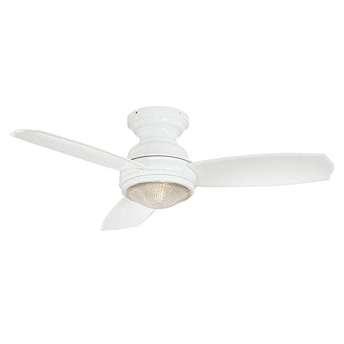 Hampton Bay 184595 Sovana Ceiling Fan with Remote Control and Light Kit, White