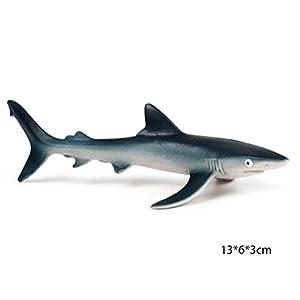Dearmy Sea Animal Figures Toys 1pcs Whale Shark Dolphins Realistic Life Educational Learning Toys Ocean Creatures Bath…